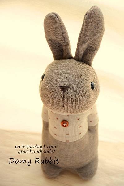 襪子娃娃370號點點T棕色多米兔 (2)1