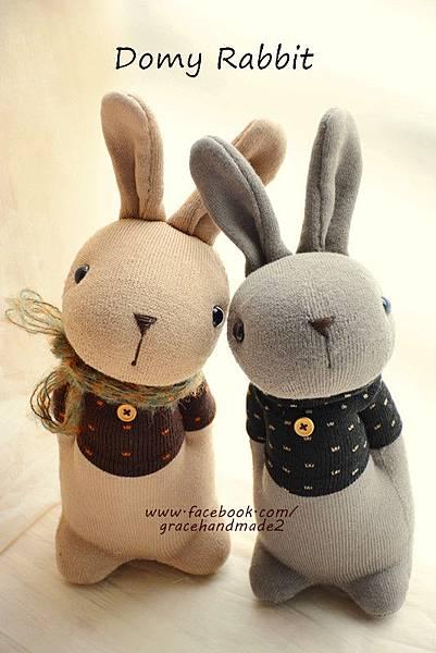 襪子娃娃372+373號點點T棕色多米兔 (1)1