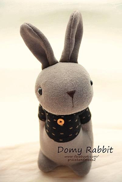 襪子娃娃372號點點T灰棕多米兔 (3)1