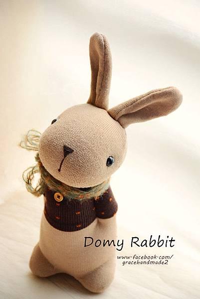 襪子娃娃373號點點T棕色多米兔 (1)1
