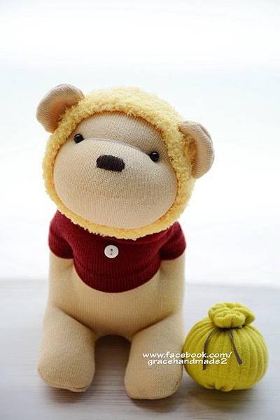 襪子娃娃374號蜂蜜熊