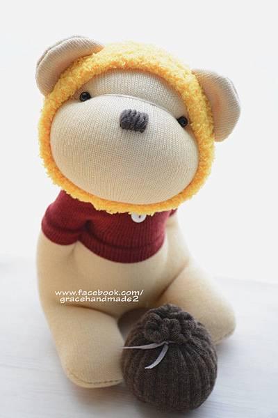 襪子娃娃375號蜂蜜熊 (3)
