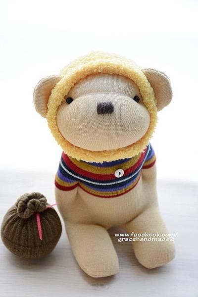 襪子娃娃376號蜂蜜熊