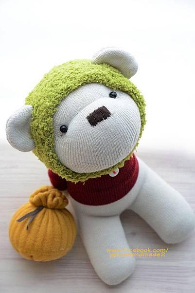 襪子娃娃377號蜂蜜熊 (1)