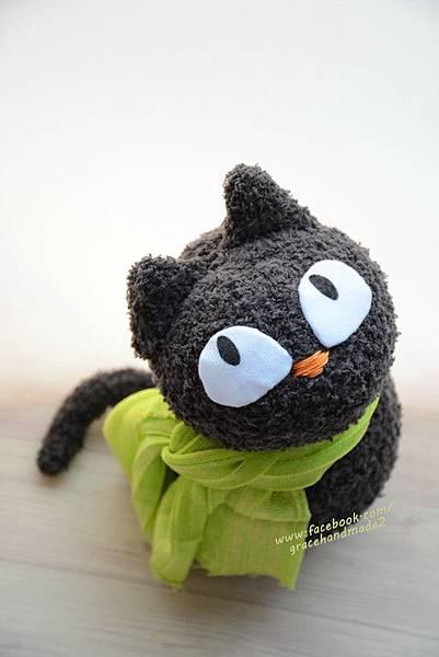 襪子娃娃378號灰貓 (1)1