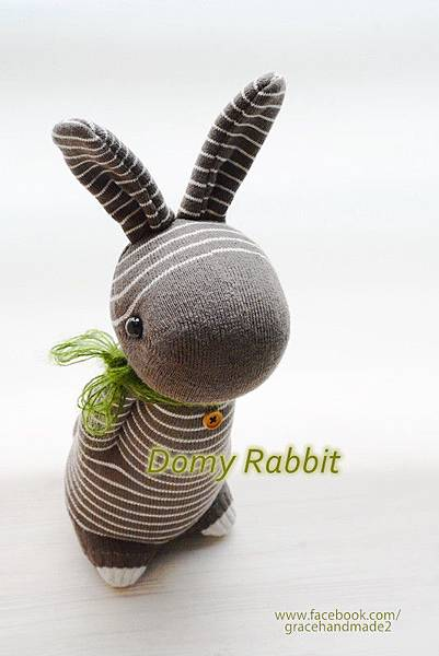 襪子娃娃383號咖啡條紋多米兔 (3)1
