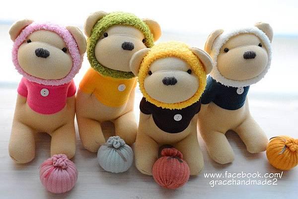 襪子娃娃387+388+389+390號四季蜂蜜熊