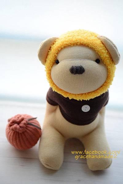 襪子娃娃389號秋季蜂蜜熊