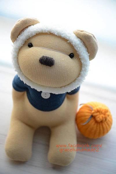 襪子娃娃390號冬季蜂蜜熊