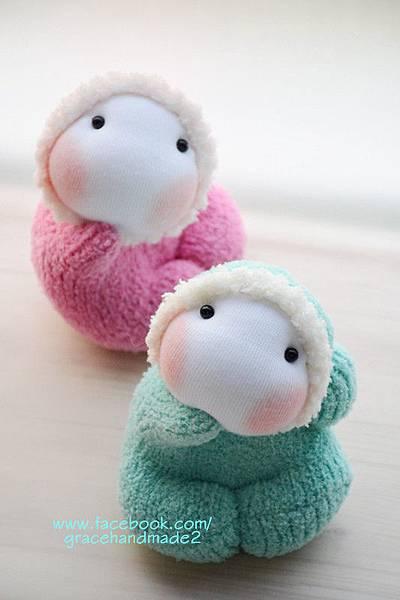襪子娃娃391+392號龍鳳小貝比 (1)