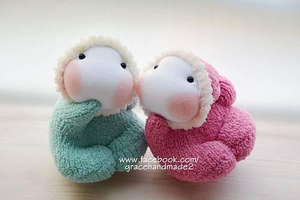 襪子娃娃391+392號龍鳳小貝比 (2)