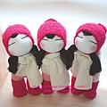 襪子娃娃393+394+395號桃紅靴女孩