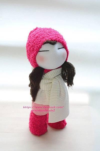 襪子娃娃394號桃紅靴女孩