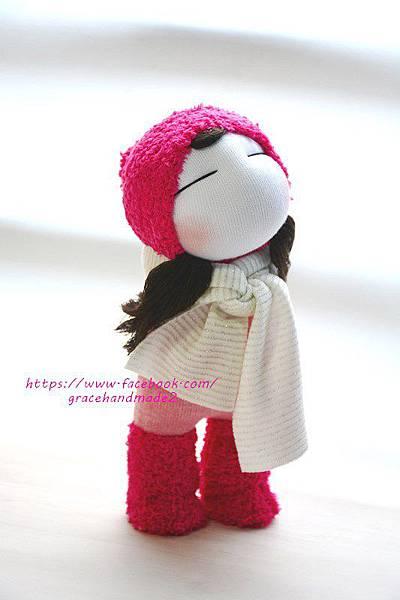 襪子娃娃393號桃紅靴女孩