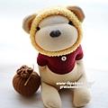 襪子娃娃398號蜂蜜熊 (1)