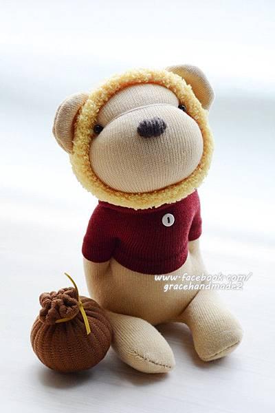 襪子娃娃398號蜂蜜熊 (3)