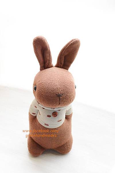 襪子娃娃400號T恤棕色多米兔