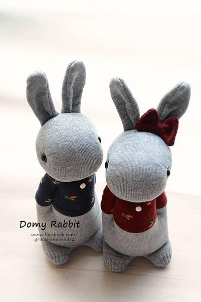 襪子娃娃404+405號T恤多米兔對偶 (1)