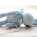 襪子娃娃429號粉藍點點兔 (1)