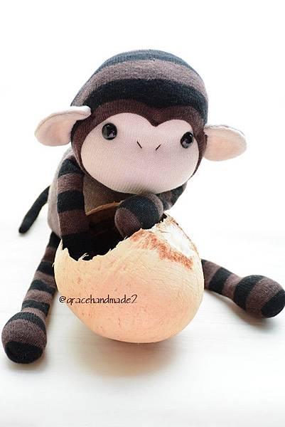 襪子娃娃489號小棕猴 (2)