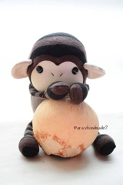 襪子娃娃489號小棕猴 (4)