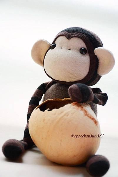 襪子娃娃489號小棕猴 (3)