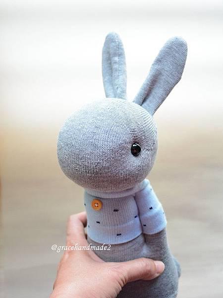 襪子娃娃494號藍T多米灰兔 (1)
