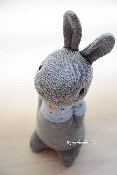 襪子娃娃494號藍T多米灰兔 (4)
