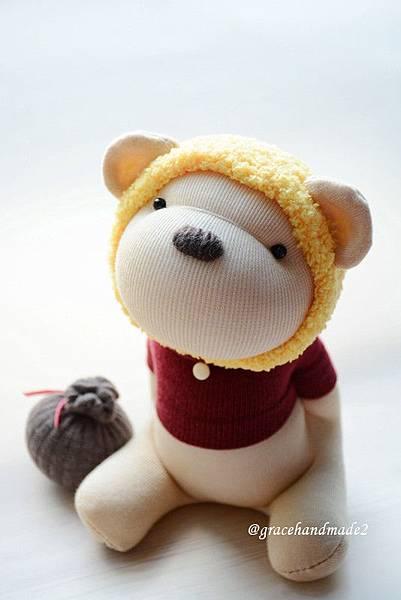 襪子娃娃495號蜂蜜熊