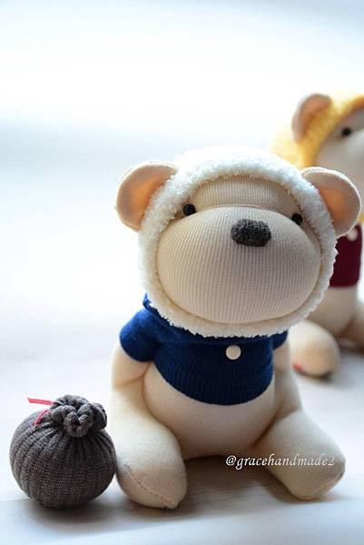 襪子娃娃496號蜂蜜熊