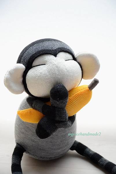 襪子娃娃498號迷你灰猴 (2)