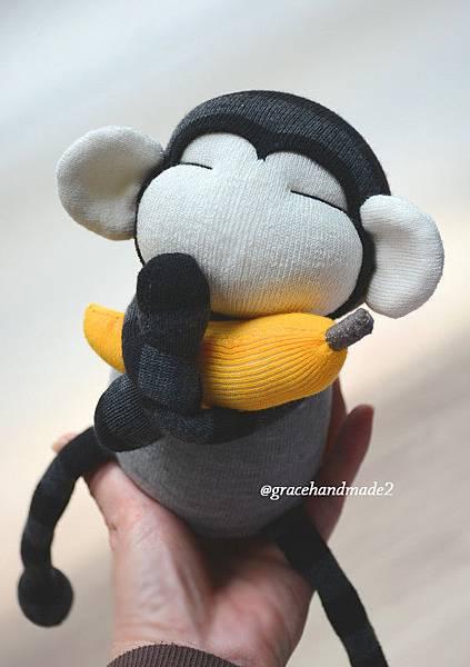 襪子娃娃498號迷你灰猴 (4)