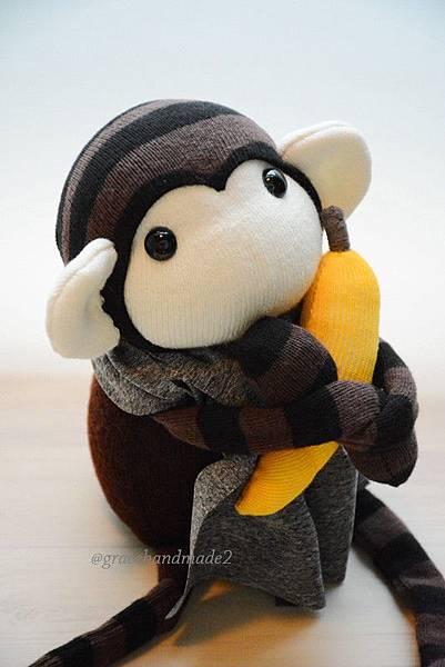 襪子娃娃499號巧克力小猴 (4)1