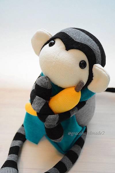 襪子娃娃500號小灰猴 (2)1