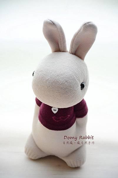 襪子娃娃517號紅T多米兔 (1)