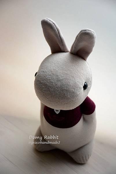 襪子娃娃519號紅T多米兔 (2)