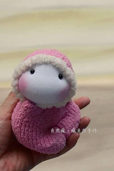 襪子娃娃521號粉紅小貝比 (1)