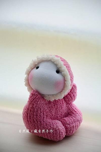 襪子娃娃521號粉紅小貝比 (3)