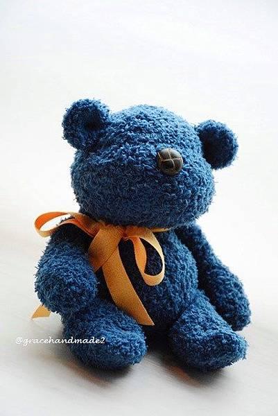 襪子娃娃533號塔比寶藍熊