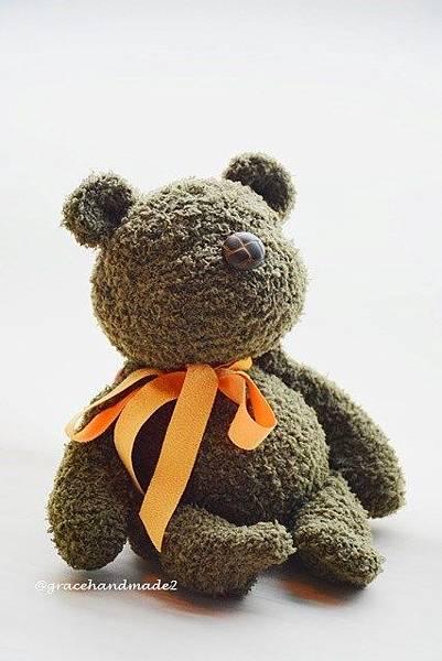 襪子娃娃534號塔比棕軍綠熊