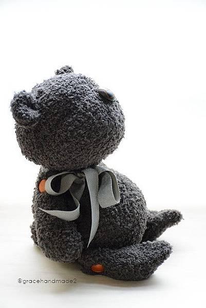 襪子娃娃541號塔比灰熊 (2)