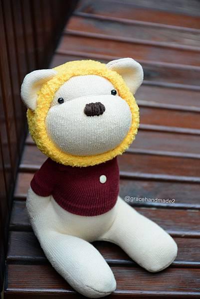 襪子娃娃556號蜂蜜熊1000-21
