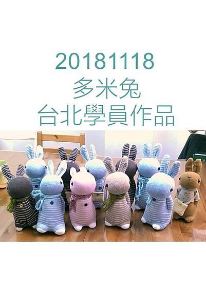 20181118台北多米兔學員作品圖