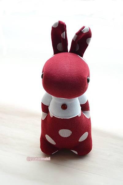 襪子娃娃558號紅豆點點兔