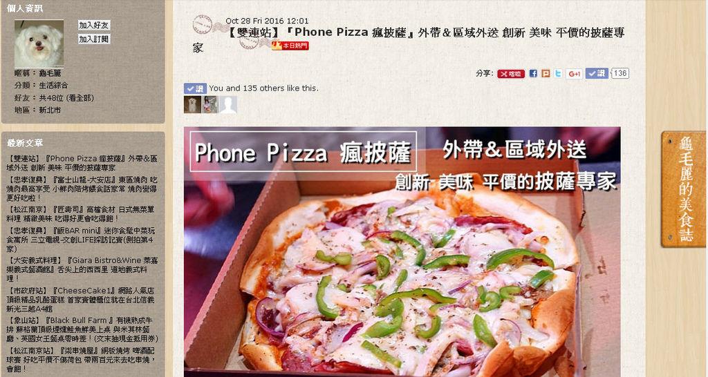 1051029瘋披薩上痞客邦本日熱門