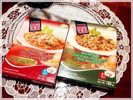 543 2 Kitchen 88泰式打拋雞肉咖哩炒蟹肉即食包 1 Jpg 小猴