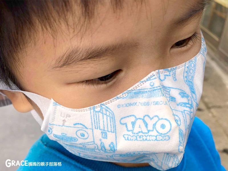 快潔適TAYO系列-不織布一次性的4層防護口罩-5到10歲使用-品質很好-質地細緻-騎機車必備品-grace媽媽 (1).jpg