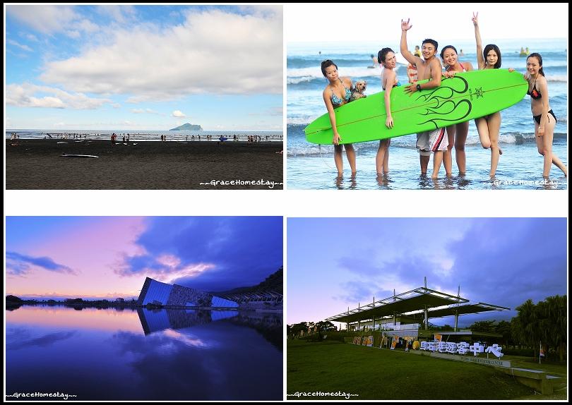 宜蘭外澳烏石港沙灘衝浪玩水~宜蘭民宿葛瑞絲~
