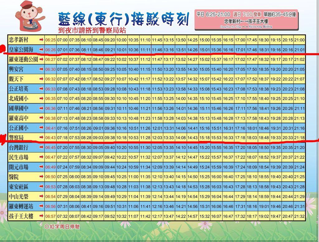 羅東免費觀光巴士~2014.07.15.修訂版