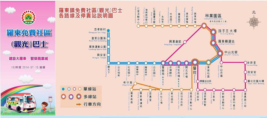 羅東免費觀光巴士~路線圖